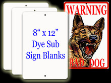 "Aluminum Sublimation Sign Blanks 8"" x 12"""