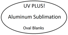 "7"" x 12"" Aluminum Sublimation Oval Blank"