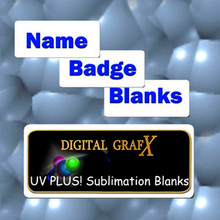 50ea Name Badge Blanks for Sublimation 1 x 3