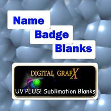 "Aluminum Name Badge Blanks for Sublimation 1"" x 3""- 50PCs"