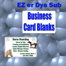 "Aluminum Dye Sublimation Business Card Blanks 2"" x 3-1/2""  with 1/4"" Corners, .032"" Thick, 50PCs"