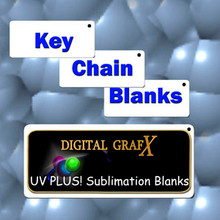 "Key Chain Blanks for Sublimation 1.25"" x 3"" Aluminum- 50PCs"
