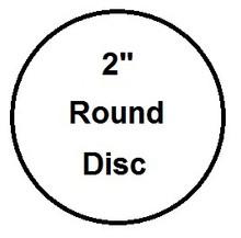 """2"""" Round Aluminum Dye Sublimation Insert- Lot of 50"""