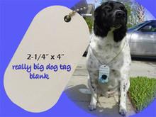 """2-1/4"""" x 4"""" Dye Sublimation Oversized Dog Tag Blanks"""