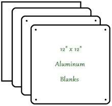 "12"" x 12"" Aluminum Sublimation Blank LOT OF 20 $2.20 each"