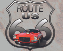 """Route 66 Aluminum Sublimation  Shield Sign Blank, 11.5"""" Tall"""