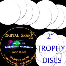 "2"" Round Aluminum Sublimation Disc- Lot of 1000 - FREE SHIPPING"