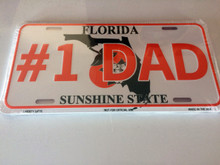 "High Gloss Embossed Aluminum  License Plates FLORIDA "" #1 DAD "" 10PCS"