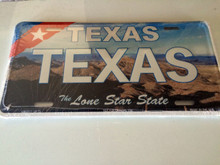 "High Gloss Embossed Aluminum  License Plate Prints TX "" TEXAS "" LOT of 100PCS"