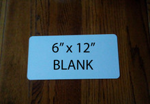 "6"" x 12"" Gloss White Aluminum Dye Sublimation Blank with 1/2"" Corners"