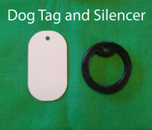 Sublimation Aluminum Dog Tag Blanks with Silencers