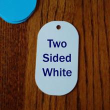 "Two Sided White Aluminum Sublimation Big Dog Tag Blanks - 2-1/4"" x 4"""