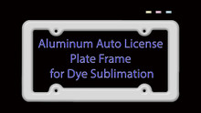 Auto License Plate Frame Blank for Aluminum Dye Sublimation