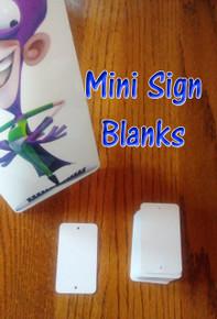 """Aluminum Sublimation 2"""" x 3-1/2"""" Mini Sign Blanks - $0.58 each/25PCs"""
