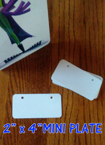 Dye Sublimation Aluminum Mini License Plate Blanks - 20PCs