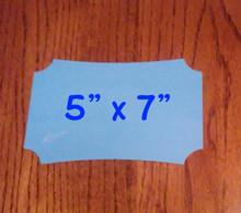 "5"" x 7"" Aluminum Dye Sublimation Berlin Style Blanks"