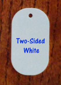 Two Sided Gloss White Aluminum Dye Sublimation Dog Tag Blanks - Lot of 50PCs