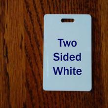 Two Sided White Aluminum Sublimation Luggage Tag Blanks