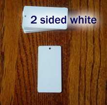 """Key Chain Blanks 1-1/2"""" x 3"""" Two Sided Gloss White Aluminum Dye Sublimation  - Lot of 50PCs"""