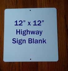 "12"" x 12"" Aluminum Sublimation Sign Blanks - Square Shaped, Top & Bottom Holes"