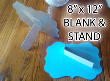 """Aluminum Dye Sublimation Benelux Style Blanks 8"""" x 12"""" with Stand"""