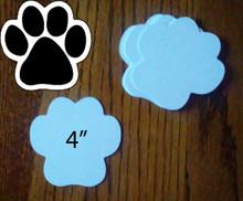 """DOG PAW - 2 Sided White 4"""" Gloss Aluminum Dye Sublimation Blanks"""