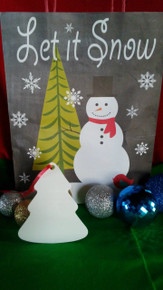 Christmas Tree Ornaments TWO SIDED WHITE Aluminum Dye Sublimation Blanks