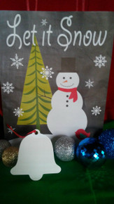 Christmas Bell Ornaments TWO SIDED WHITE Aluminum Dye Sublimation Blanks