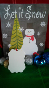 Christmas Benelux 1 Ornaments TWO SIDED WHITE Aluminum Sublimation Blanks $1.02ea