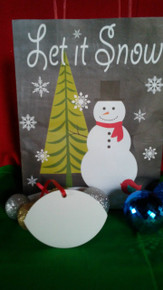 Christmas Football Ornaments TWO SIDED WHITE Aluminum Sublimation Blanks