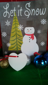 Christmas Heart Ornaments TWO SIDED WHITE Aluminum Dye Sublimation Blanks