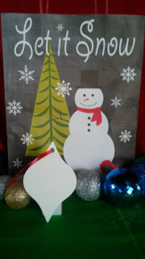 Christmas Tapered Ornaments TWO SIDED WHITE Aluminum Sublimation Blanks