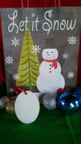 Christmas Oval Ornaments TWO SIDED WHITE Aluminum Dye Sublimation Blanks $1.02ea
