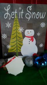 Christmas Snow Flake Ornaments 2 SIDED WHITE Aluminum Sublimation Blanks $1.02ea-10PCs