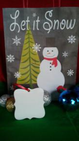 Christmas Prague Ornaments 2 SIDED WHITE Aluminum Dye Sublimation Blanks $1.02ea-10PCs