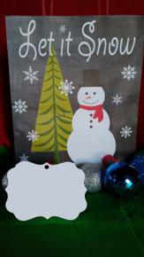 Christmas Benelux 2 Ornaments TWO SIDED WHITE Aluminum Sublimation Blanks $1.02ea-10PCs