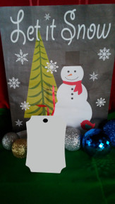 Christmas Berlin 1 Ornaments 2 SIDED WHITE Aluminum Dye Sublimation Blanks $1.02ea-10PCs