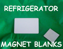 Refrigerator Magnet Blank - Gloss White Aluminum Dye Sublimation Blank with Magnet, Lot of 50