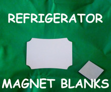 """Refrigerator Magnet  4"""" Berlin - Gloss White Aluminum Dye Sublimation Blank with Magnet"""