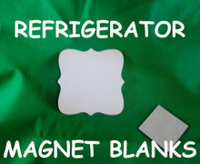 """Refrigerator Magnet  2.9"""" Square/Prague - Gloss White Aluminum Dye Sublimation Blank with Magnet"""