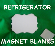 "Refrigerator Magnet  4"" Benelux - Gloss White Aluminum Dye Sublimation Blank with Magnet"