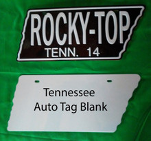 Aluminum Dye Sublimation Tennessee Auto License Plate Blanks