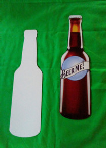 "Beer Bottle -  Custom Aluminum Dye Sublimation Blank , 11"" Tall"