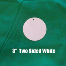 "3"" Round Two Sided White Aluminum Dye Sublimation  Blanks , 10PCs"