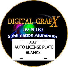 .032 UV PLUS! Dye Sublimation Aluminum Auto License Plate Blanks- Special Offer! FREE DELIVERY! Lot of 100