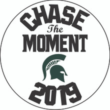 "Custom Aluminum 3"" Round sublimation print""Chase the Moment"""