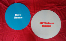"""11-3/4"""" Round High Gloss Aluminum Sublimation Photo Blank, .042"""" Thick"""