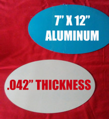 "Aluminum Sublimation Oval Photo Blanks 7"" x 12"", .042"" Thickness"
