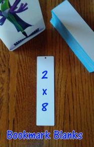 "Dye Sublimation Aluminum 2"" x 8"" Bookmark Blanks- 50 pc Lots"