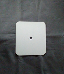 "Aluminum Dye Sublimation Clock Face Blank - 4-1/2"" x 4"""